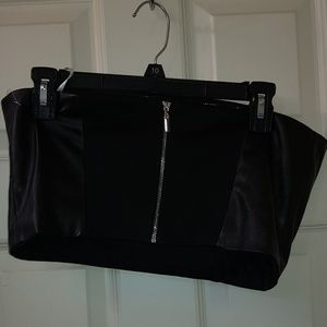 NWOT NY & CFaux leather bustier